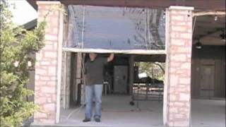 Rope And Pulley Roll Vinyl Patio Enclosures Youtube