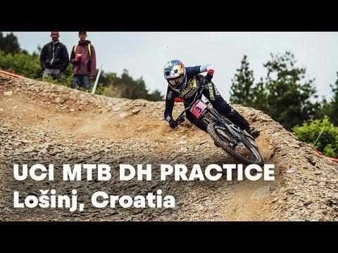 UCI MTB 2018: Downhill Mountain Bike Practice Sessions in Croatia