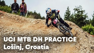 UCI MTB 2018: Downhill Mountain Bike Practice Sessions in Croatia