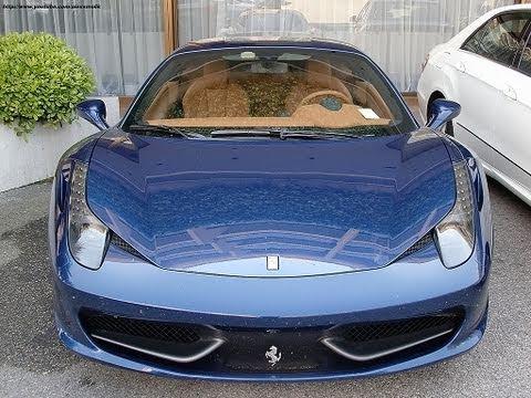 ferrari 458 italia tdf blue livery driving in monaco - Ferrari 458 Italia Blue