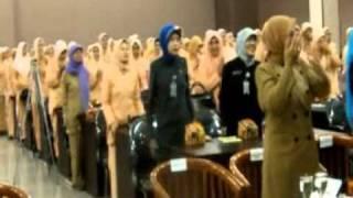 Senam Otak-Brain Gym- Hari Kesatuan Gerak PKK ke-40 bersama Ibu Bupati Lebak