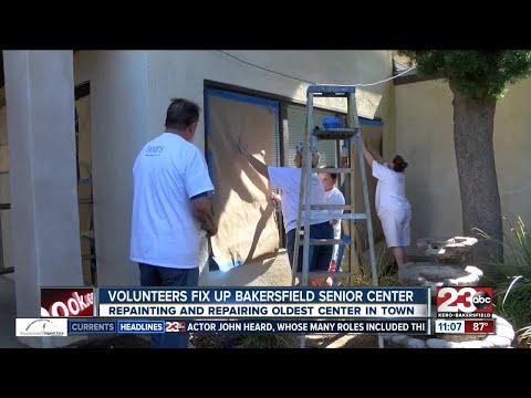 Community volunteers help clean up Bakersfield Senior Center