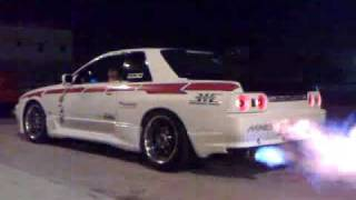 sky line gt s 32 with exhaust flame thrower from saudi arabia باك فاير