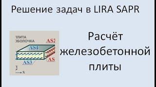 lira Sapr Расчёт монолитной плиты