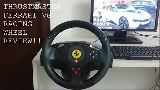 Thrustmaster Vg Ferrari Red Legend Racing Wheel Review Youtube