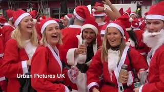 Santas fight and urinate in public during London's SantaCon 2018