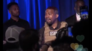 Kanye West Wears Bullet Proof Vest Breaks Down Crying During 1st Presidential Campaign Rally