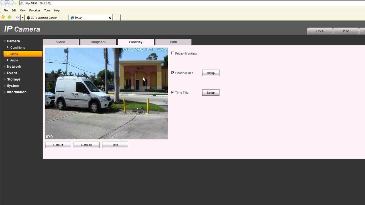 ip megapixel camera web service interface demo youtube. Black Bedroom Furniture Sets. Home Design Ideas