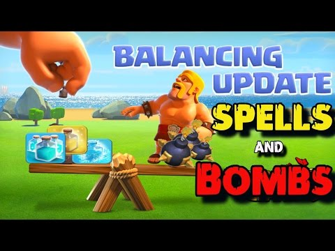 COC UPDATE *New Spell Levels & Bombs!* and Awesome War Attacks   Clash of Clans Update 2017