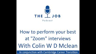 How to Perform Your Best in Zoom Interviews