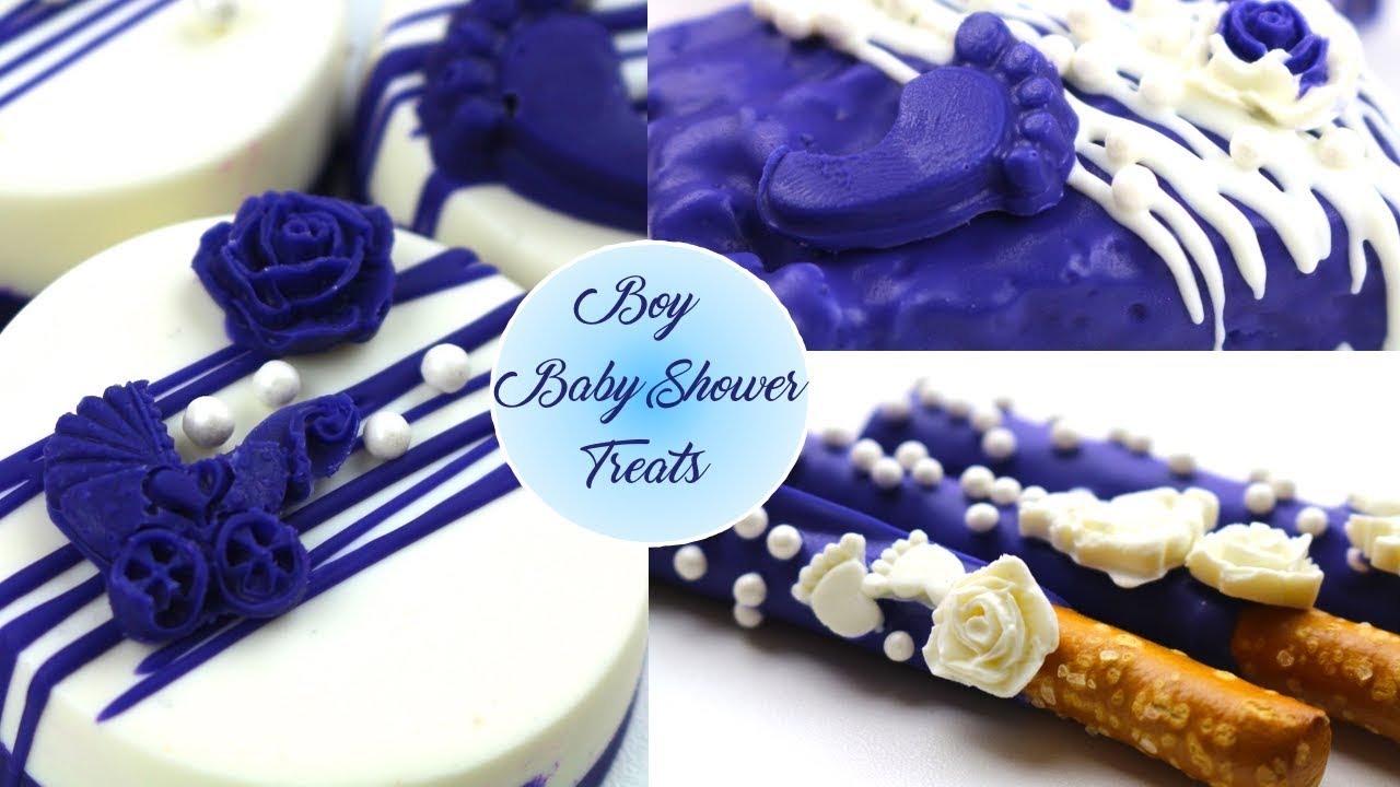 Boy Baby Shower Table Treats Youtube