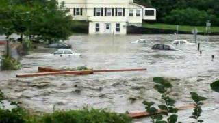 Brattleboro Vermont-off of Canal ST.- Hurricane Irene-August 28 2011