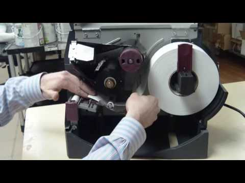 Zebra Z4M How to change paper and ribbon in HD