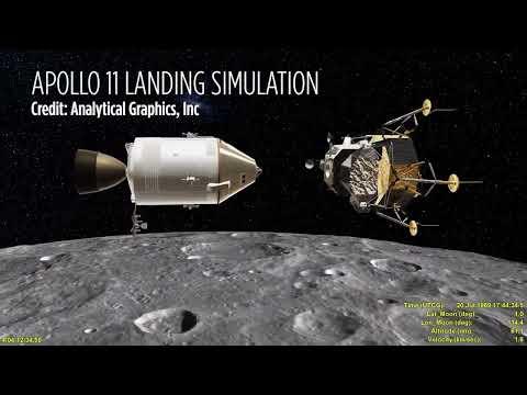 Watch Apollo 11's Moon Landing in Amazing Simulation