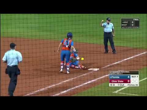 Florida-Ohio State NCAA Softball Regionals: Lilli Piper elbows Kayli Kvistad in the boob