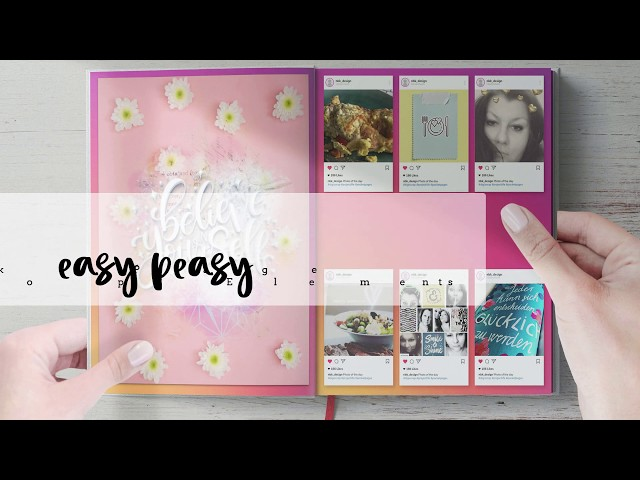 Easy Peasy Templates - How to create a Instagram Photobook Page