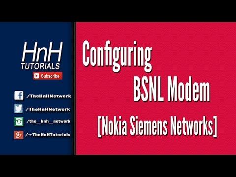 Configuring BSNL Modem [Nokia Siemens Networks]