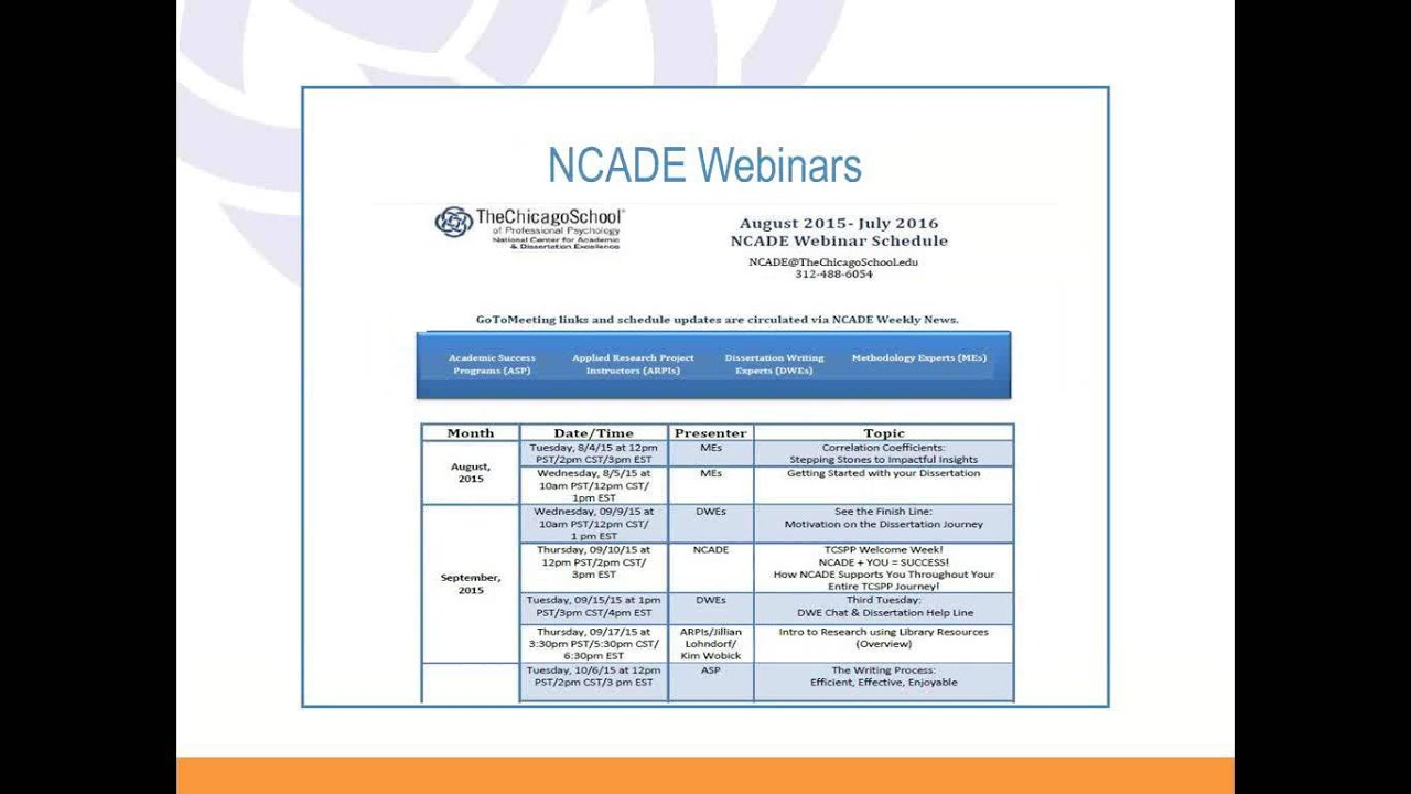1Pm Pst To Cst 2015 09 10 15 03 ncade you = success how ncade supports you through your  entire tcspp experience
