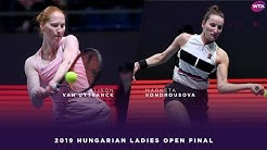 Alison Van Uytvanck vs. Marketa Vondrousova | 2019 Hungarian Ladies Open Final | WTA Highlights