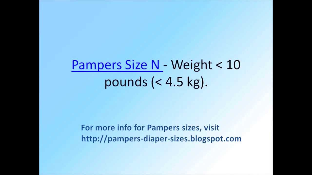 Pampers Size Chart By Weight