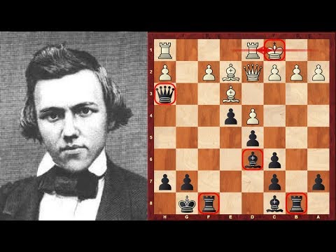 Paul Morphy's disputed Amazing Immortal Chess Game - Brief commentary #57 - London 1858