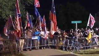 Tempers flare as New Orleans bids farewell to Confederate monument