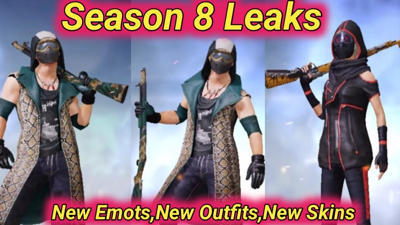 Pubg Mobile Season 8 Royal Pass Leaks New Emots New Outfits New