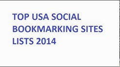 Top USA Social Bookmarking Sites Lists February 2014