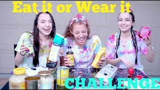 Eat it or Wear it Challenge with The Merrell Twins!