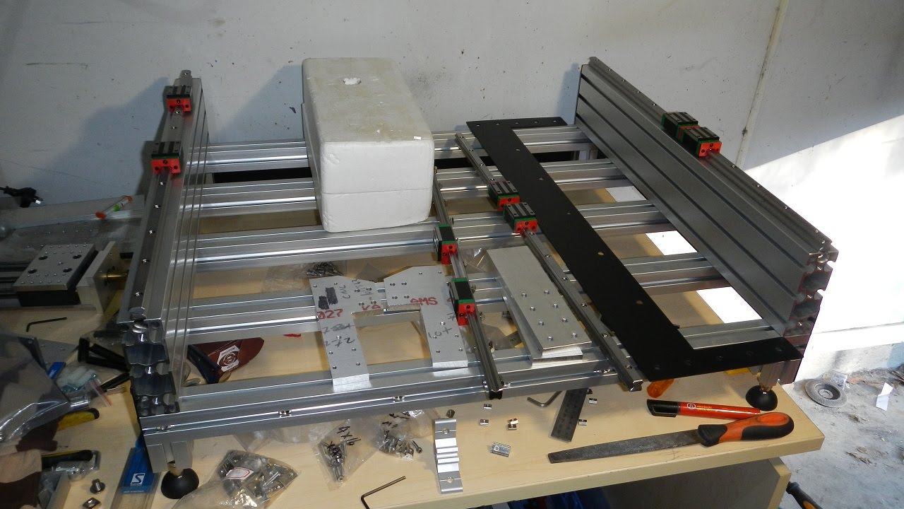 Tabletop Extrusion Cnc Router Build Part 1 Youtube