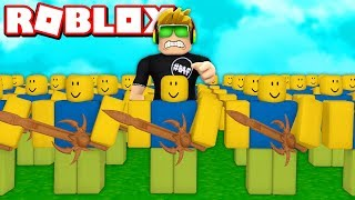 MY ARMY OF NOOBS in ROBLOX