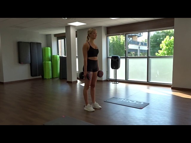 Dumbbell Standing Forward Lunges