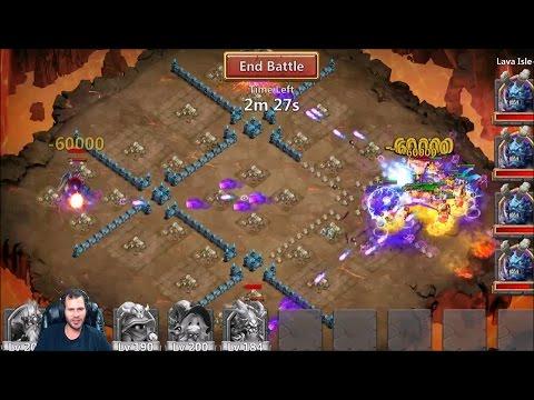 Craziest LAVA 3 EVER 4 TRIXIE TREATS + DemoGorGON PAINFUL Ending Castle Clash