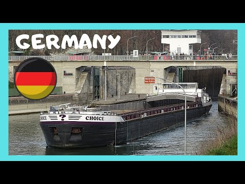 EXPLORING DUSSELDORF: The iconic BARGES on RIVER RHINE (GERMANY)