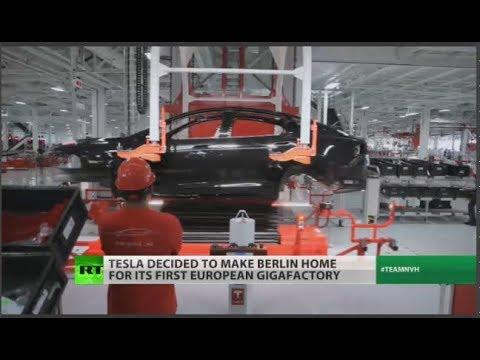 RT America: Tesla gigafactory to bring 10,000 jobs to Berlin