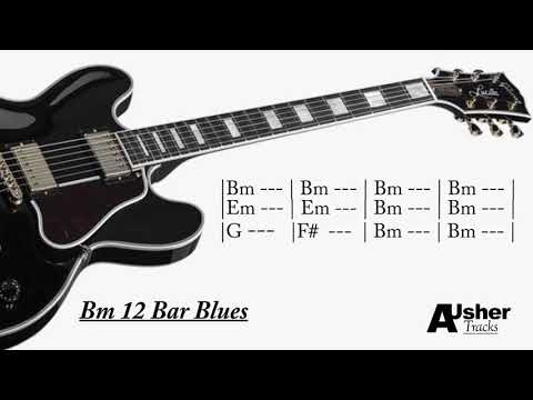 BB Blues B minor 12 Bar | Guitar Jam Track | 1HOUR EDITION
