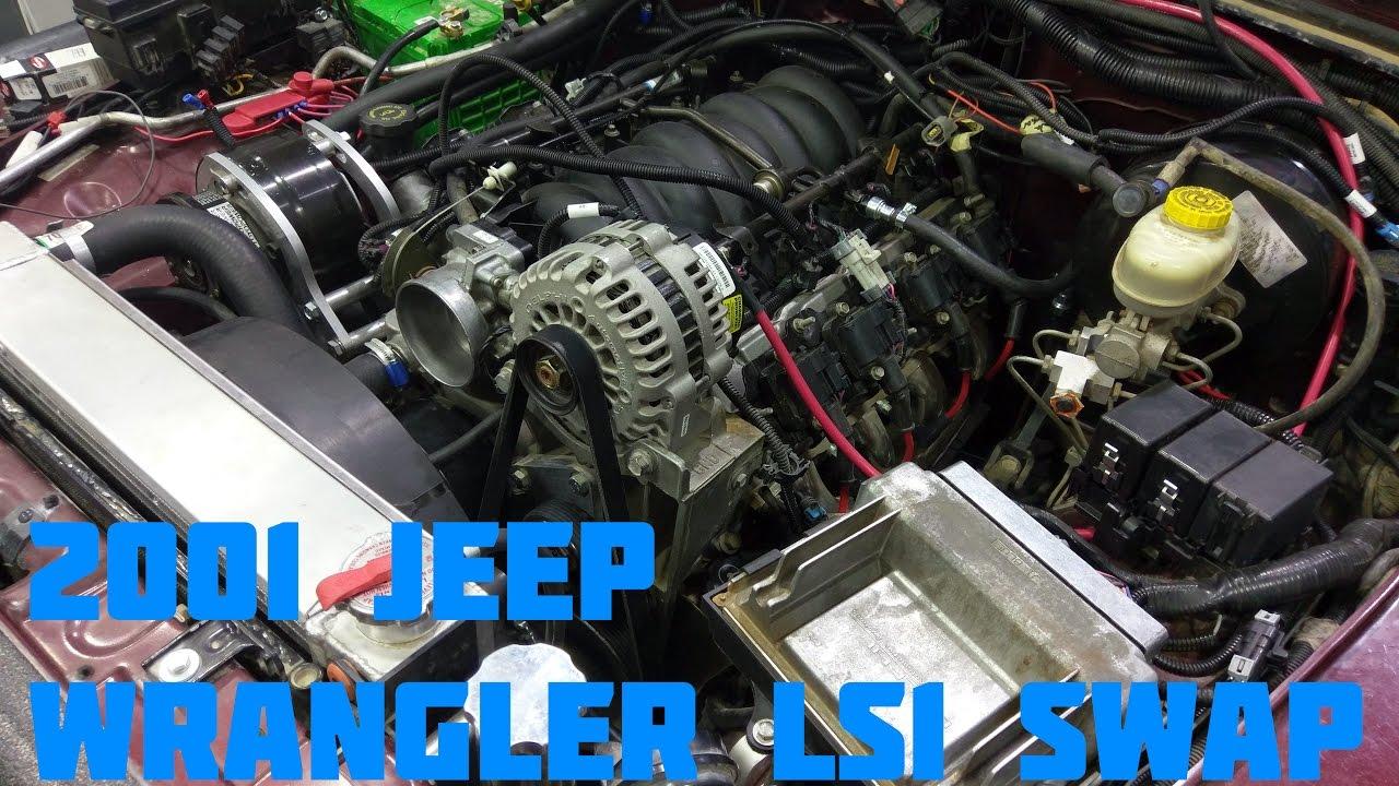 medium resolution of 2001 jeep wrangler tj ls1 swap start up idle walkaround