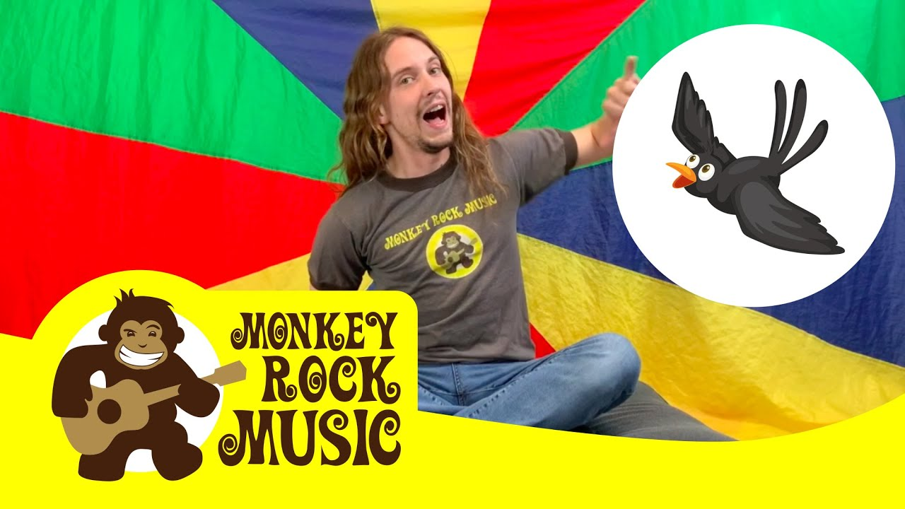 2 Little Blackbirds Monkey Rock Music Kids Dance Songs Nursery Rhymes Youtube