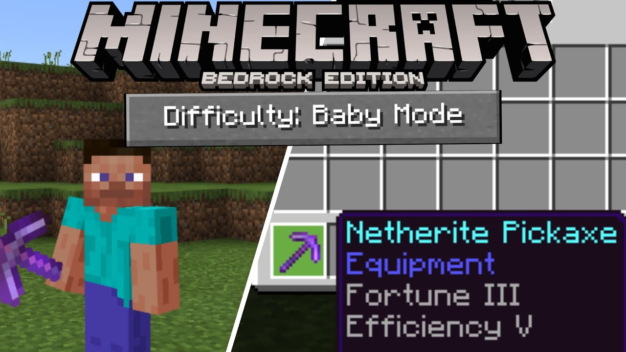 Baby Mode addon Minecraft PE