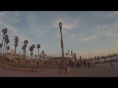 Road Bike Ride On Beach Trail - Newport Beach Through Huntington Beach