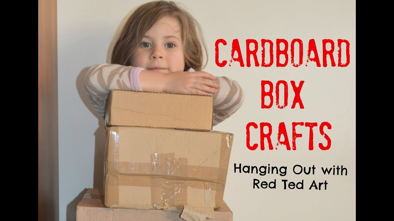Cardboard craft ideas youtube for Things you can make out of a cardboard box