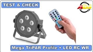 Test & Check - American DJ - Mega TriPAR Profile + LED RC WR Fernbedienung