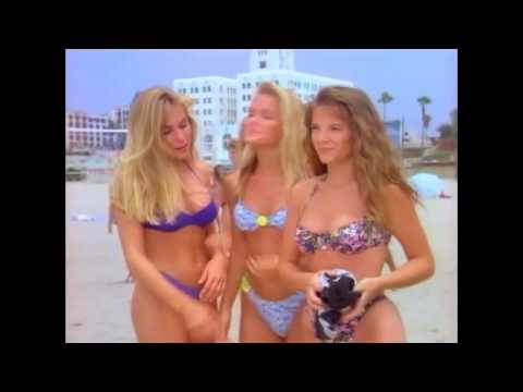 AJ Langer - Baywatch Bikini Scene (with Kelly Packard)
