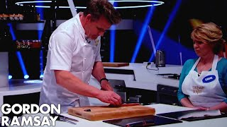 How to Fillet a Salmon Into 10 Equal Pieces | Gordon Ramsay