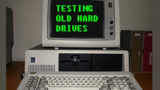 IBM 5150 PC testing huge old IBM & Seagate hard drives