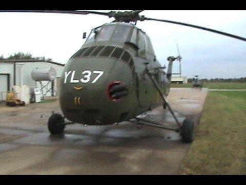 Sikorsky UH-34D Helicopter Startup