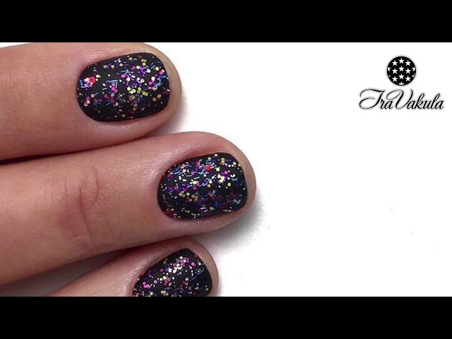 Nail Art Multicolored Spots manicure design! Nail Tutorial by #IraVakula