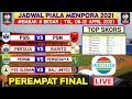 Jadwal Piala Menpora 2021 | Persib vs Persebaya | Persija vs Barito | Babak 8 Besar | Live indosiar