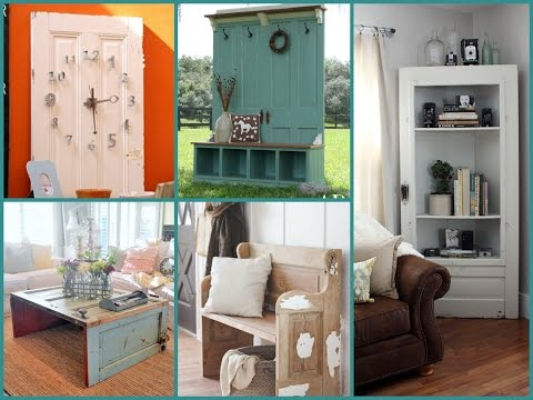 Repurposed Furniture Ideas – Old Door Recycling