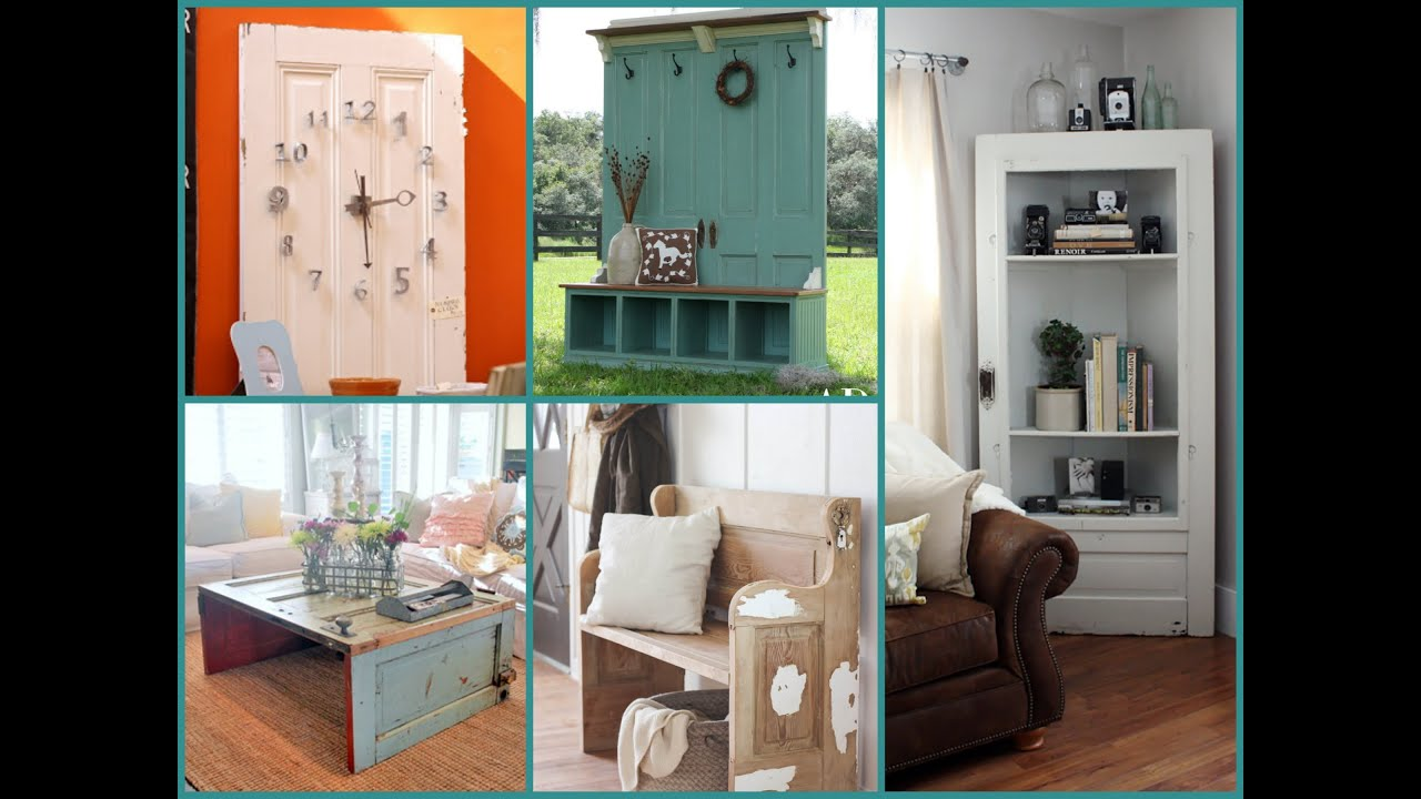 Repurposed Furniture Ideas Old Door Recycling Youtube
